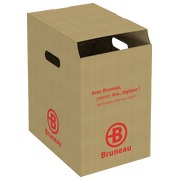 Container cardboard for paper recycling