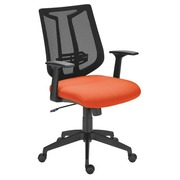 Armchair Tiloa grey with arm supports - mesh back - synchronous