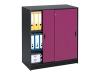Cabinet with sliding doors colours height 100 cm body anthracite