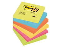 Notes repositionnables couleurs Energie Post-it 76 x 76 mm - bloc de 100 feuilles
