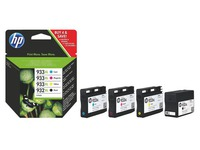 Pack of 4 cartridges HP 932XL black + 933XL color