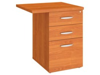 Mobile drawer cabinet angle wood 3 drawers Excellens