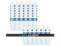 Pack 48 bottles of water Cristaline 1,5 L 36 + 12 for free