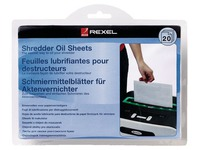 Kit 20 lubricating sheets for Rexel shredders