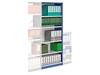 Versatile shelving, H 250 cm, extension element, W 120 cm, with back panel