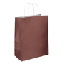 Pack of 50 kraft bags with twisted handles 23 x 12 x 30 cm