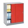 Cabinet with sliding doors colours height 100 cm body aluminium