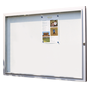 Outdoor display case 12 sheets; clear grey metallic bottom